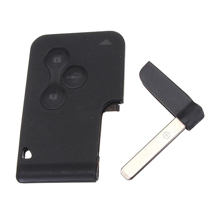 3 tarjeta de carcasa botón para llave de funda con tapa para ...