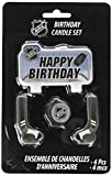 Amscan Sports and Tailgating Nba Party Birthday Cake Candle Set Decoration, Wax, 2'' x 3'' Childrens, NHL Ice Time Birthday Candle, 24 Pieces
