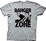 Image of Archer Danger Zone Adult Sized Soft Blue T-shirt