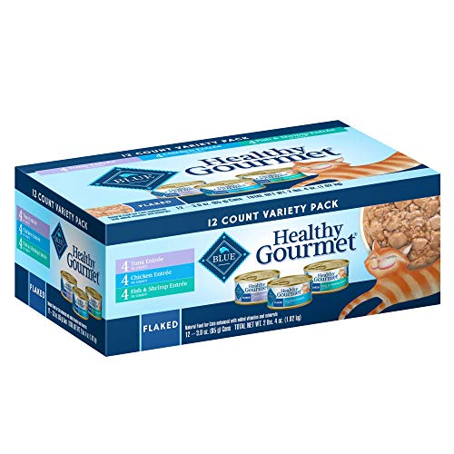 Case Gourmet - Blue Buffalo Blue Healthy Gourmet Adult Variety Pack Cat Food, 3 oz, Case of 12