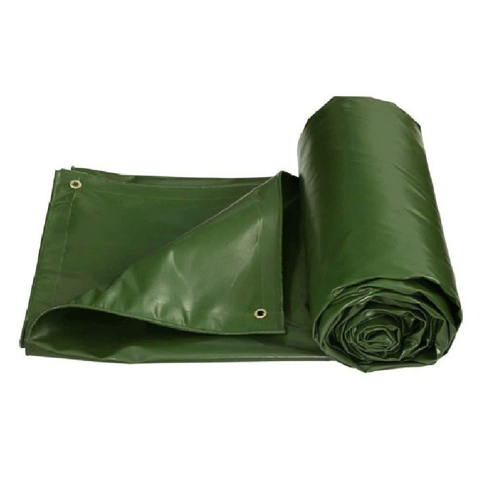 ターポリン アイレットが付いている厚い防水防水シートの布の防水キャンバスの日焼け止めの小屋の日除けの日除け - 550g / mの²、緑 (サイズ さいず : 6mx4m) B07S1RZ8G5  6mx4m