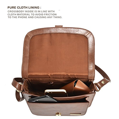 300726123cb0 Leather Crossbody Bags For Women - Crossover Purse Over The Shoulder Womens  Purses and Handbags Travel