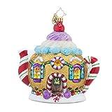 Christopher Radko Sweet Tea Teapot Candy & Gingerbread Themed Glass Christmas Ornament - 5h. by Christopher Radko