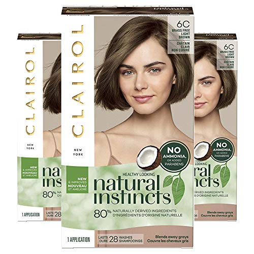 (Clairol Natural Instincts, 6C Brass Free Light Brown, Brazilian Dusk, 3 Count )