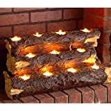 Wildon Home Tealight Contemporary Decorative Fireplace Log Insert - The Perfect Fireplace Accessory You Will Ever Have! This Wood Fireplace Insert Has an Amazing Handcrafted Resin Log Sculpture. This Freestanding Fireplace Insert Is a Great No Fuss Alternative to Lighting a Fire. Great for Home Fireplaces, Condos, Townhouses and Apartment Fireplaces