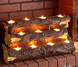 Wildon Home Tealight Contemporary Decorative Fireplace Log Insert - The  Perfect Fireplace Accessory You Will Ever Have! This Wood Fireplace Insert  Has an ...