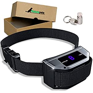 Bark Collar with UPGRADED Smart Chip By Naturpets Vibration & shock Mode - Intelligent Dog Shock, Anti-Barking Collar. No Bark Control for Small/Medium/Large Dogs - Stop Barking Safe Humane Device