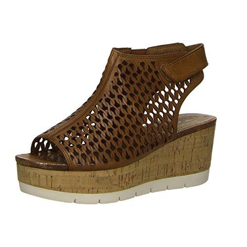 Tamaris 305 Femme Cognac Cuir Chaussure Sandale 28334