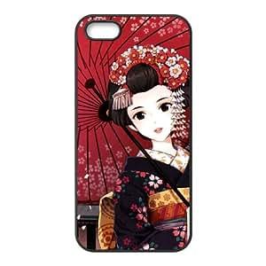 iPhone 4 4s Cell Phone Case Covers Black anime Geisha 3D Custom Phone Case Cover XPDSUNTR18992