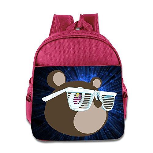 Logon 8 Abstract Cute Baby Boys Girls Tollder School Hiking Backpacks Bags Pink