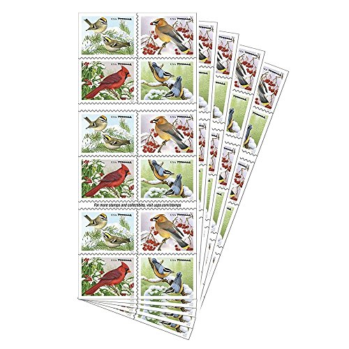 USPS Songbirds in Snow Holiday Stamps (100 - Postage Snow