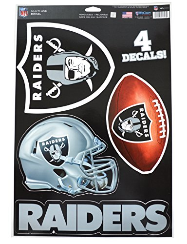 WinCraft Official National Football League Fan Shop Licensed NFL Shop Multi-use Decals (Oakland Raiders)