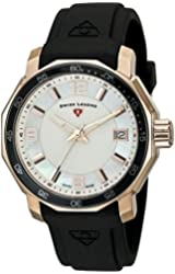 Swiss Legend Women's 16191SM-RG-02-BLKB Blue Geneve Analog Display Swiss Quartz Black Watch
