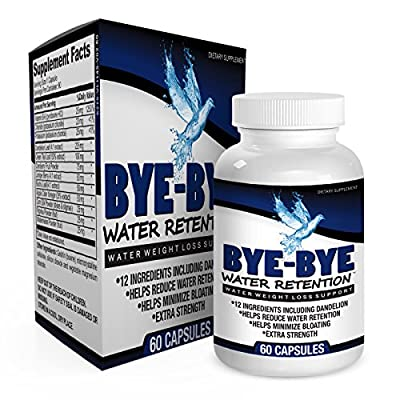 Bye-Bye Water Retention: Water Weight Loss Pills / Natural Diuretic Pills / Water Retention Relief