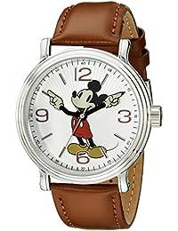 Men's W001852 Mickey Mouse Analog Display Analog Quartz Brown Leather Watch