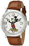 Disney Men's W001852 Mickey Mouse Analog Display Analog Quartz Brown Leather Watch