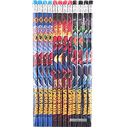 Spiderman Authentic Licensed 12 Wood Pencils Pack