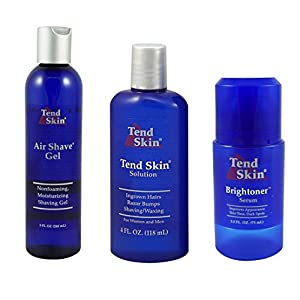 Tend Skin Razor Burn Shaving Kit [Shave Gel + Post Shave + Brightoner Serum ]