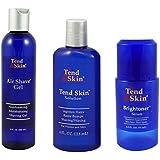 Tend Skin Razor Burn Shaving Kit [Shave Gel + Post Shave + Brightoner Serum ]
