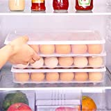 2PCS Plastic Refrigerator Egg Trays,2 x 24 Deviled