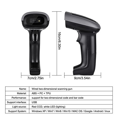 QR Barcode Scanner, Elekele 1D 2D/PDF417/AZTEC/Data Matrix