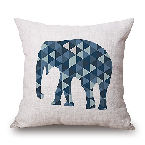 Loveloveu Pillow Covers Of Elephant 16 X 16 Inches / 40 By 40 Cm,best Fit For Adults,saloon,dining Room,boy Friend,deck Chair 2