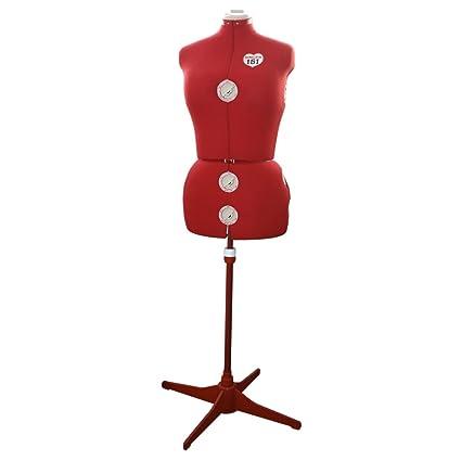 Maniquí mediano personalizado Singer DF151 de tela y espuma, rojo tallas grandes