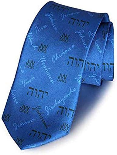 GuDeKe Jw.org temático Corbata Azul Caballero Accesorio Regalo ...