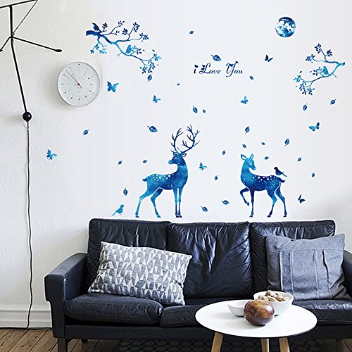 ☀ Dergo ☀ DIY Silhouettes Decoration Decal Stickers Bedroom Living Room Walls Home Decor