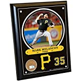 "MLB Pittsburgh Pirates Mark Melancon Plaque with Game Used Dirt from PNC Park, 8"" x 10"", Navy"