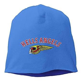 HAMC Hells Angels Motorcycle Club RoyalBlue Skull Beanie Cap For Men&women