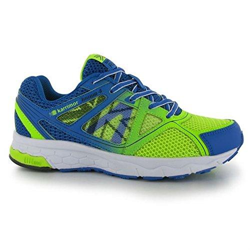 Karrimor Tempo 4 Kinder Laufschuhe Sportschuhe Turnschuhe Jogging Sneaker Black/Lime/Blue