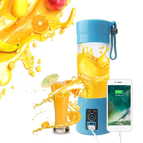 - A-SZCXTOP Portable Blender Personal Juicer Cup with USB Charging Cable Smoothie Maker Fruit Mixer for Travel Gym Picnic Home or Office 380ML