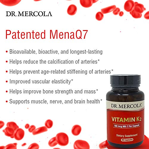 Dr. Mercola Vitamin K2 Supplement - 90 Capsules – Support Cardiovascular and Bone Health with Patented MenaQ7 K2-MK7 Made From Natto with Fermented Chickpeas by Dr. Mercola (Image #3)