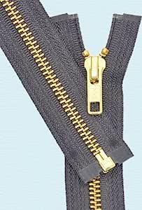 """13"""" Medium Weight Jacket Zipper YKK #5 Brass ~ Separating ~"""