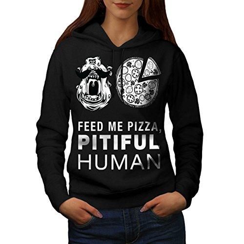 Monster Junk Slogan Food Women L Hoodie | Wellcoda
