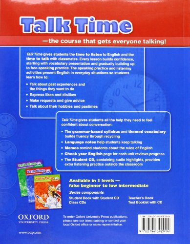 Talk Time 2 Student Book with Audio CD: Everyday English - Import It All