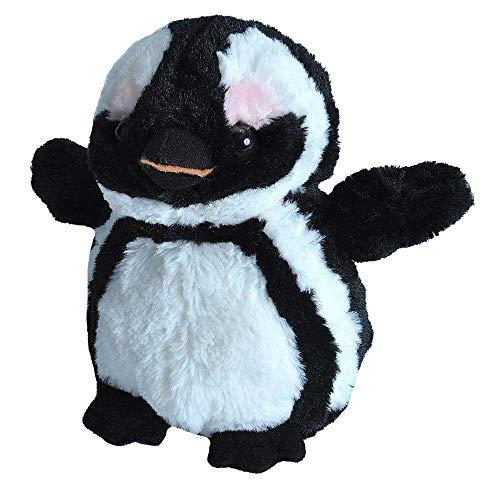 Wild Republic Plush, Stuffed Animal, Plush Toy, Gifts for Kids, Hug'Ems, Black Footed Penguin, 7