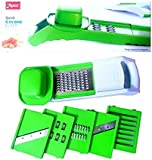 Apex Quick 6 in 1 Slicer with 6 Detachable Slicers, Ripple, Greater - for Vegetables, Chips, Dry Fruits, Coconut and multiple kitchen use