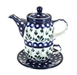 Polish Pottery Alyce Tea for One