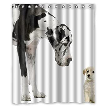 Charming Amazon.com: Great Dane Black White Dogs Shower Curtain 60 X 72 Inch  Bathroom: Clothing