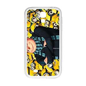 Happy Minions Case Cover For samsung galaxy S4 Case
