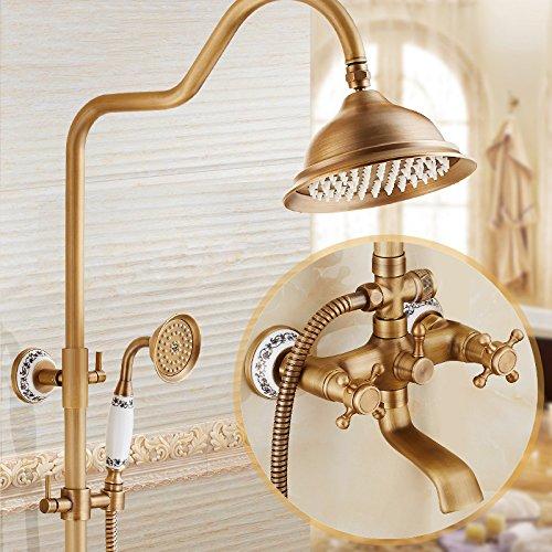 A1 Hlluya Professional Sink Mixer Tap Kitchen Faucet Antiquebrass shower sprinkler kit, pressurized hot and cold faucets shower sprinkler,A1