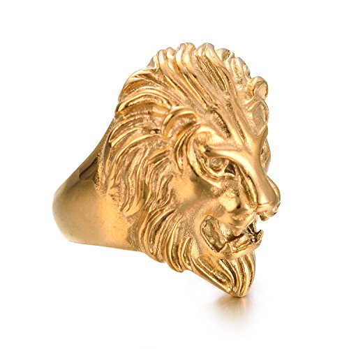 Amazon Yoursfs Lion Ring for Men Stainless Steel Gold Lion