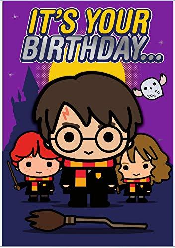 Tarjeta de cumpleaños de Harry Potter con texto en inglés ...