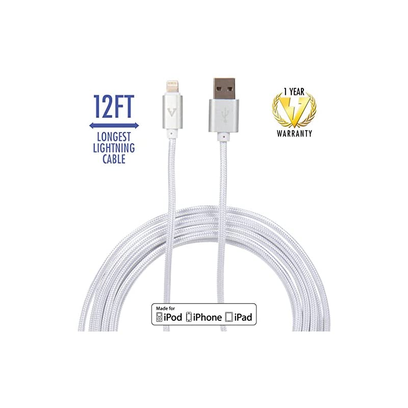 vCharged 12 FT Longest Lightning Cable N