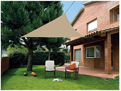 Quality ferreteria plus M292828 - Toldo vela sombreo triangular impermeable 3.6 x 3.6 x 3.6 m marron: Amazon.es: Bricolaje y herramientas