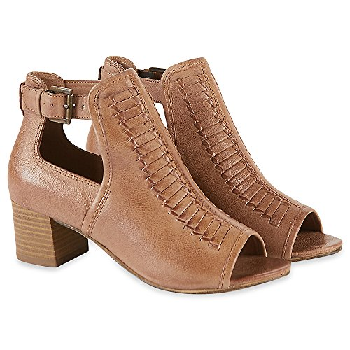 M T022954 with Marks amp;S Leather Block Shoes Toe Spencer Collection Heel RRP Sandal amp; Peep Insolia 1qffXwE