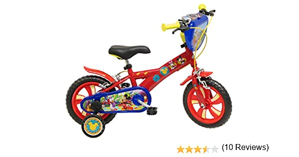 Disney Mickey Mouse - Bicicleta con ruedines: Amazon.es: Juguetes ...