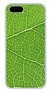 iPhone 5 5S Case Green Leaf Texture PC Custom iPhone 5 5S Case Cover White